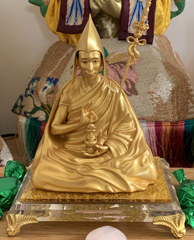 Statue of Venerable Geshe Kelsang Gyatso Rinpoche