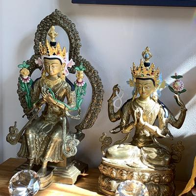 Buddha Maitreya and Buddha Avalokiteshvara shrine